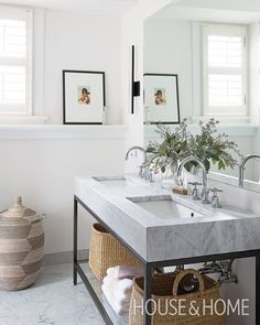 "3,281 Likes, 19 Comments - @scoutandnimble on Instagram: ""A beautiful bathroom designed by @samsacksdesign featured in @houseandhomemag : @alexlukey"""
