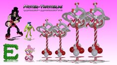 163  Balloon Column Christmas Wedding Decoration, Ballon Säule Weihnachten Hochzeit Dekoration