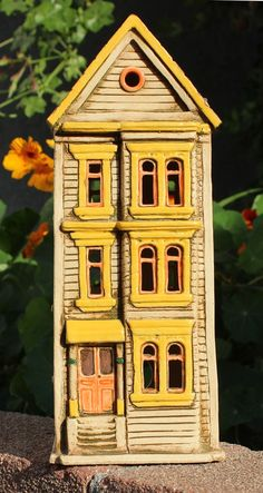 Clay Townehouse #7 | Harry Tanner Design  Illuminated ceramic sculpture/lamp