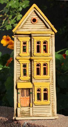 Clay Townehouse #7   Harry Tanner Design  Illuminated ceramic sculpture/lamp