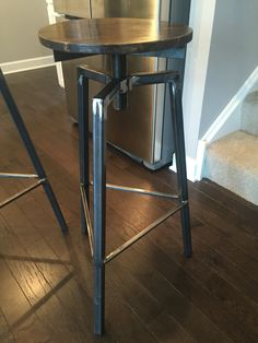 Raw industrial stool.