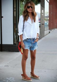 How to Wear a Button-Down Shirt: 30 Outfits | StyleCaster