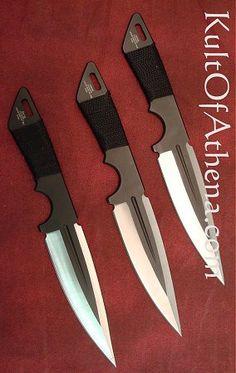 Kit Rae Black Jet Triple Throwing Knife Set