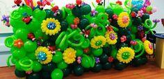 Jardín de globos de flores