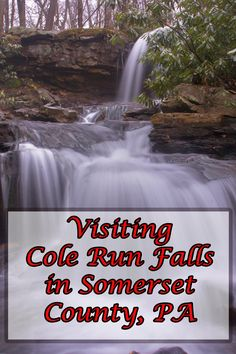 The beautiful Cole Run Falls in Somerset County, Pennsylvania's Forbes State Forest. Find out how to get there here: http://uncoveringpa.com/visiting-cole-run-falls