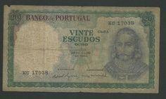 20 Escudos Portugal 1960 #forsale http://www.kollectbox.com/explore#/item/profile/56ae47e2bf25d2fd0e5c79ec #marketplace for #banknote #collectors #papermoney #buybanknotes #banknotesforsale #sellbanknotes #papermoneyforsale #sellpapermoney #buypapermoney