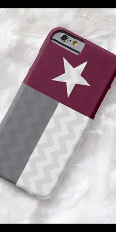Maroon Texas Flag Chevron striped iphone 6 or 6+ case!
