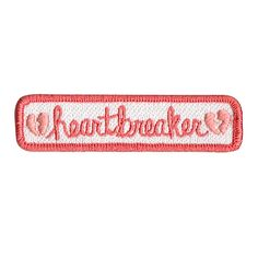 "***THESE+PATCHES+ARE+ON+PREORDER,+so+orders+containing+this+product+will+be+shipped+MID+SEPTEMBER!!!***+ Heartbreaker+you've+got+the+best+of+me. 3/4""+x+3""+100%+embroidered+patch,+iron-on+backing."