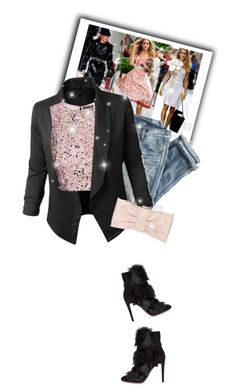 """street style"" by janemichaud-ipod ❤ liked on Polyvore featuring Jupe de Abby, J.Crew, Phase Eight and Gianvito Rossi"