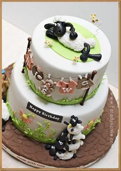 Shaun the Sheep cake! Is it strange for an adult to want this cake for their bday?!? I love it!!