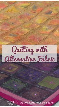 Heather Thomas shows you several examples of quilts that utilize alternative fabrics, or fabrics that you don't typically consider for quilting, including metals, silks and wools. By varying the fabrics that you use on your quilts, you'll find that you can create fun pieces that are unique and eye-catching. Quilting Frames, Quilting Fabric, Quilting Tips, Quilting Tutorials, Craft Tutorials, Sewing Tips, Sewing Hacks, Patchwork Ideas, Heather Thomas