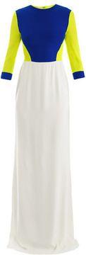 Antonio Berardi Tri-colour chiffon gown on shopstyle.com
