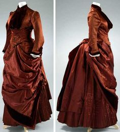 Wedding dress, Exeter, Devon, England, 1884. Silk satin and velvet. Royal Albert Museum