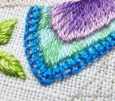Secret Garden Embroidery Hummingbird Tail