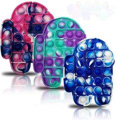 3 Pcs Push pop Bubble Fidget Toy, Silicone Tie-dye Fidget Toys,Autism Special Needs Stress Reliever, Squeeze Sensory Toy Relieve Emotional Stress for Kid Adult Cool Fidget Toys, Cool Toys, Pair Et Impair, Hippie Nails, Ukulele Design, Anti Stress, Pop Bubble, Emotional Stress, Sensory Toys