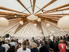 Stunning wedding yurt at Fron Farm Yurt Retreat. A unique and unusual wedding venue in West Wales.