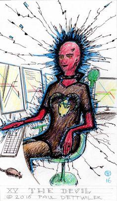 Tarot, Major Arcana XV The Devil, illustrator Paul…
