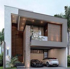 Modern Exterior House Designs, Modern Architecture House, Dream House Exterior, Modern House Design, Exterior Design, Exterior Colors, Architecture Design, House Outside Design, House Front Design