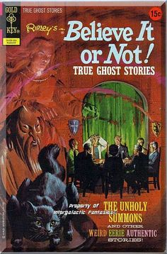Painted cover art by George Wilson. The Surprise Party, art by Luis Dominguez. The Ghost Hunter text story, art by Joe Certa. But No One Knocked, art by Jack Sparling. The Ghost of Spire Church, art by Oscar Novelle. The Unholy Summons, art by George Roussos. # on cover is 90208-208.  Only $9.49 with Free Shipping!