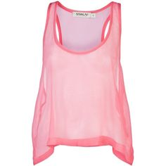 Sam & Lavi - Kelsie Sheer Tank ($60) ❤ liked on Polyvore featuring tops, shirts, tanks, tank tops, blusas, women, pink tank, racer back tank top, pink racerback tank and racer back tank