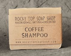 Solid Shampoo Bar with Coffee- All Natural Soap, Unscented Soap, Handmade Soap, Cold Process Soap, Vegan Soap ($6.50) - Svpply