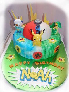 Pokemon cake - Cake Decorating Community - Cakes We Bake Pokemon Torte, Pokemon Cakes, Pokemon Birthday Cake, Birthday Cakes, Torta Paw Patrol, Pikachu Cake, 10th Birthday Parties, Birthday Ideas, Character Cakes