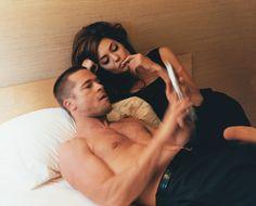 Angelina Jolie & Brad Pitt (I'm team Anniston but love this pic)