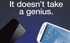 Samsung takes a jab at Apple's iPhone 5 in its new Galaxy S III ad.
