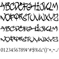 Graffiti Alphabet Styles, Graffiti Lettering Alphabet, Tattoo Lettering Fonts, Graffiti Font, Graffiti Designs, Graffiti Styles, Lettering Styles, Graffiti Tagging, Cursive Fonts Alphabet