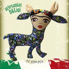 ¡Venadita Frida! #Artesanía #color #hechoenmexico #decoración  #hogar #mx #cdmx #arte #Frida