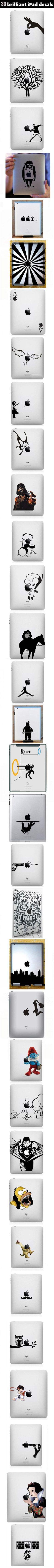 Creative iPad decals.
