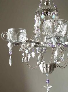 "Chandelier - is this cute, or what?! More of these in my ""repurposed"" folder."
