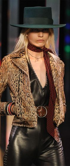. Saint Laurent ss 2015  Me and animal print will always be friends...
