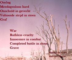 #Cinquain #Elfje #War #Oorlog #Innocence #Onschuld