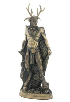 Cernunnos Herne Statue The Hunter God Pagan Wiccan Hu Gadarn Diety #WU75711A4