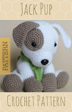 Crochet Amigurumi Puppy Dog Pattern, Jack Pup, Instant Download PDF, Stuffed Animal Crochet Toy Pattern #crochetdogpattern #crochetamigurumidog #crochetamigurumipattern #affiliate #crochetpatterns #crochetdogpatterns #crochetpuppydogpattern