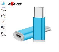 Effelon USB Type-C Adapter Type C Converter Connector Male to Micro USB Female