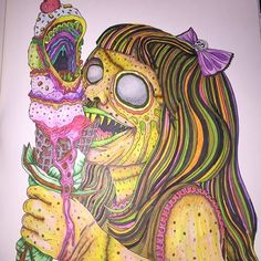80 Best Beauty Of Horror Coloring Book Images Horror Coloring