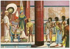 Audience d'un gouverneur de province auprès de Pharaon.