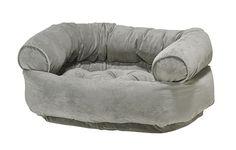 Bowsers Granite Microvelvet Double Donut Dog Bed