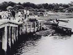 "Chappaquiddick, July 18, 1969. U.S. Senator Edward M. ""Ted"" Kennedy drove off a bridge into a tidal channel with Mary Jo Kopechne in vehicle. He swam free & left the scene of the accident. He also did not report the accident for 9 hours. Mary Jo was found the next day, having drowned. He plead guilty to leaving the scene of an accident. Received slap on the wrist for her death. Tragic."