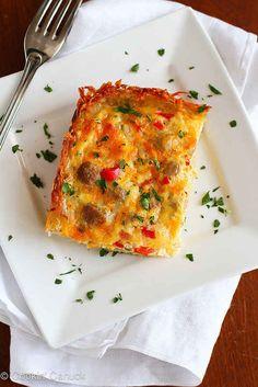 Cazuela dietética de huevos con salchicha + mas desayunos
