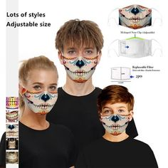 Shop - PremiumFluMasks Halloween Masks, Halloween Face Makeup, Zombie Mask, Pumpkin Mask, Facial, Eyebrow Stencil, Protective Mask, Mouth Mask, Unisex