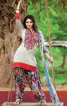 Picture of Culture Cream Color Indian Salwar Suit