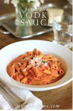 Penne with Vodka Sauce from The Barefoot Contessa's Foolproof - easy and soooo good!     http://jennysteffens.blogspot.com/2013/01/penne-alla-vodka-sauce-barefoot.html