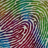 #Fingerprint mini art #quilt - this seems like a wonderful gift for someone really close to you