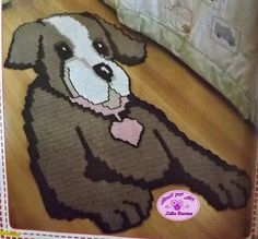 Tapete Infantil de Crochê em Forma de Cachorro