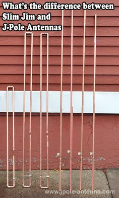 What's the difference between a J-Pole and a Slim Jim antenna?