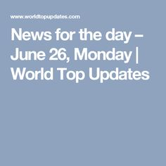 News for June Mumbai water-logged by heavy rains. Eid on Monday June Modi meets top CEOs in US. French President, June 19, News Media, Presidential Election, New Day, Sunday, World, Tops, Brand New Day