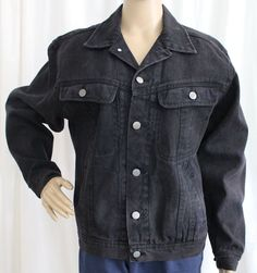 Ladies Small Black Jean Jacket Todays News #TodaysNews #JeanJacket
